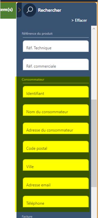 Filtre ISG avec informations consommateurs